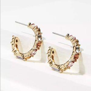 Loft - Stone Hoop Earrings